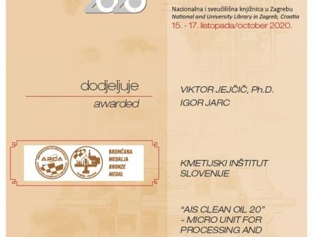 Bronasta medalja, Sejem inovacij - Zagreb 2020