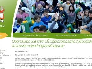 Spletna stran občine Brda