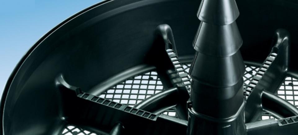 Konus za dovod zraka v center komposta